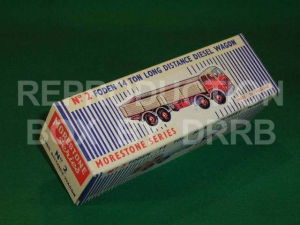 Morestone #2 Foden Long Distance Diesel Wagon - Reproduction Box